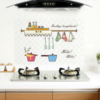 Anti-oil Heat Resistant Kitchen Hood Cabinet Wall Sticker Tile Decal Welcome