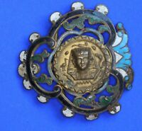 NEW HANDCRAFTED  BELT BUCKLE BLUE ABALONE SHELL,SILVER METAL WESTERN WEDDING