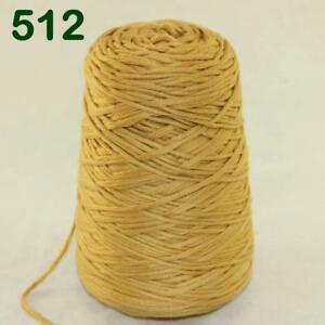 1 Cone 400g Worsted Smooth Cotton Chunky Bulky Hand DIY Thicken Knitting Yarn 46