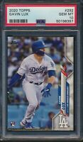2020 Topps Series 1 #292 Gavin Lux Dodgers RC Rookie Card Graded PSA 10 Gem Mint
