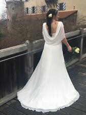 Brautkleid Hochzeitskleid Größe 40/42 Farbe ivory Chiffon Schleppe