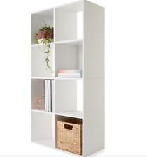 8 Cube White Display Storage Unit Bookshelf Photos Shelf Cabinet Home Organiser