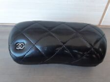 CHANEL Hard Shell Glasses Eyeglasses Sunglasses Case Leather with Logo