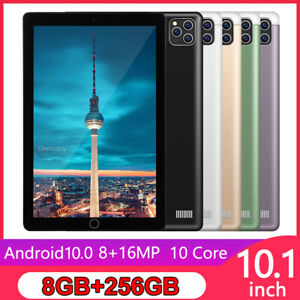 10.1 Inch 8+256G Tablet Android 10.0 Pad with Triple Camera Wifi GPS Dual SIM