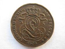Belgium 1902 copper 1 Centime GVF eks
