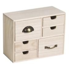 Knorr Prandell Bare Wood Box with 6 Drawers 22 x 9.5 x 17.7cm #218735458