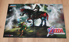 The Legend of Zelda Ocarina of Time 3D / Cars 2 Rare Poster 42x28cm Nintendo 3DS