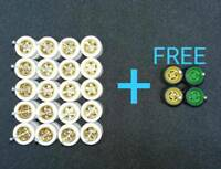 ( SPECIAL  !!) Hot Wheels 5 STAR GOLD White Rubber Tire 10 Sets  + FREE 2 SETS