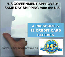 16 Pack RFID Blocking Sleeves Credit Card Protector & Passport Identity Theft 16