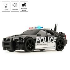 Vokodo Toy Police Car Friction Power With Siren Lights And Sounds Kid SWAT (New)