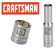 "Craftsman Easy Read Socket 1/4"" Drive Shallow or Deep Metric or Inch Choose Size"