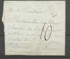 1782 Lettre Marque LIZY Rouge Seine et Marne Pour Bernai Superbe. P2408
