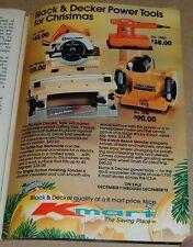 1980 KMART STORE PRINT AD~BLACK & DECKER POWER TOOLS~CIRCULAR SAW~BENCH GRINDER