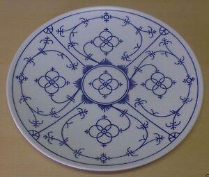 Winterling Porzellan Indisch blau Teller flach 26 cm glatter Rand