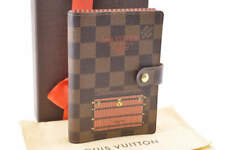 LOUIS VUITTON Damier Agenda PM Day Planner Cover R20029 LV Auth ar226