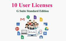 Domain name with 10users for G Suite or Google Apps Standard Edition