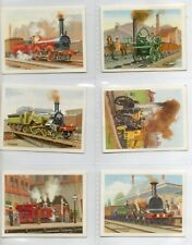 BRITAINS RAILWAY '.  FULL SET  ISSUED BY PLAYERS TOM THUMB IN 1987  .VG . COND.