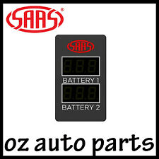 SAAS Dual Battery Volts Switch Gauge Digital Gauge Toyota Hilux KUN26R GGN25R