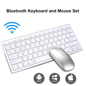 Wireless Bluetooth Keyboard and Mouse Set for PC Laptop Tablet iMac