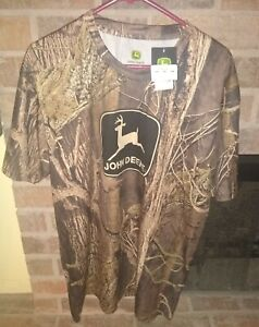 Mens John Deere Brown Camo Shirt XLarge 100% Polyester