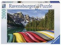 RAVENSBURGER  Puzzle  2000 Pieces.  MOUNTAIN-CANOES. 166473. NEW
