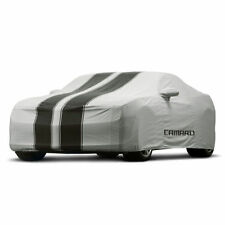 10-15 Camaro Convertible Outdoor Car Cover 92223304 Gray w/ Black Stripes OEM GM
