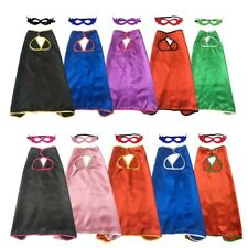 Plain Superhero Capes with Masks for Baby Boys Girls Cheap Halloween Costume