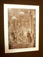 700 Italia Maria Tesera d'Austria Palazzo Ducale Milano Incisione di L.Pogliaghi