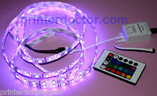 8.2 ft 150 RGB 5050 Epistar SMD LED strip light, remote controller 12v US seller