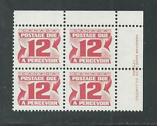 CANADA # J-36a MNH POSTAGE DUE (Plate Block of Four)