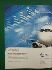 7/02 PUB MTU AERO ENGINES MUNCHEN AIRBUS MAINTENANCE ORIGINAL GERMAN ADVERT