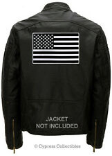 BLACK AMERICAN FLAG EMBROIDERED IRON-ON BIKER PATCH LARGE BACK-SIZE USA US new