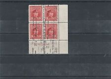 war Issue Plate block used #10 LR #254  Canada used Cat $37.50