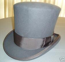 Grey Wool Dickens Era Bell Topper Hat - XL!