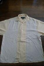 Nat Nast Luxury Originals 100% silk loop collar camp shirt Medium