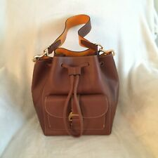 Dooney & Bourke Emerson Leather Drawstring Bag - Marlowe, Tan, New with Tags
