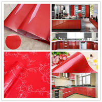 Vinyl Red Glitter Wallpaper Roll Self Adhesive Shelf Liner Kitchen Cabinet Decor