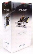 RME HDSP aes-32 PCI 32 Cannel/192 kHz AES I/O CARD + Nuovo/Scatola originale + garanzia