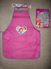 Disney Princess Garden Painting Kitchen Kids Apron + Princess Pop Bead Jewelry