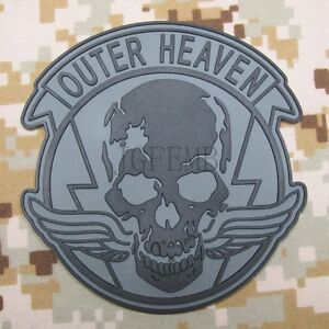 Metal Gear Solid MGS OUTER HEAVEN PMC  Special Force Group 3D PVC Patch