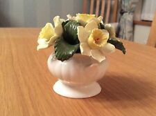 Vintage Aynsley Bone China April Daffodils In Urn Home Decor Collectable