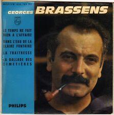 """GEORGES BRASSENS """"LE TEMPS NE FAIT RIEN A L'AFFAIRE"""" 60'S EP  PHILIPS 432.783"""