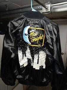 Vintage 80s McDonalds Mac Tonight Moon Man Satin Jacket. Medium