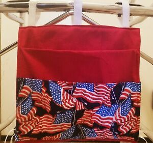 Custom Walker Tote Bag Phone Pouch Holder 3 Pocket Accessory Purse Carrier Caddy