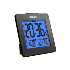 BALDR B0114 Atomic Desk Alarm Clock LCD with Calendar Snooze Indoor Thermometer