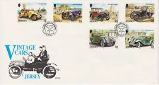 Unaddressed Jersey FDC First Day Cover 1989 Vintage Cars 10% off 5