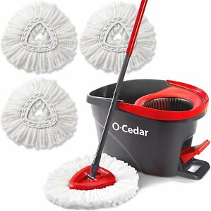 O-Cedar Easywring Microfiber Spin Mop & Bucket Floor Cleaning System with 3...