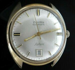 Vintage ZENTRA SAFARI AUTOMATIC DATE Herren Uhr, 18K vergoldet, 60er Jahre