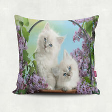 "SET OF 2 - 18""x18"" Decorative Pillow Case 3D Kittens - Cats Picture Theme"