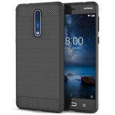 Soft Sottile TPU Silicone Gel in fibra di carbonio modello Telefono Case Cover per il Nokia 8